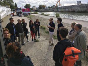 Atelier sur les bords du canal à Aubervilliers